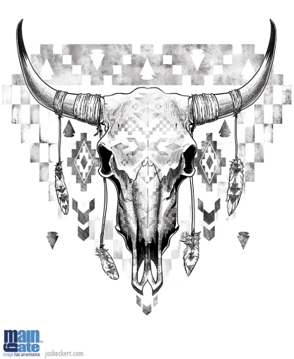 Steer skull shirt design